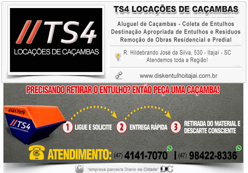 Empresa de coleta de entulho itajai Limpeza remoção disk entulhos caçambas soluções Coleta Caçamba Tira Tele Retirada